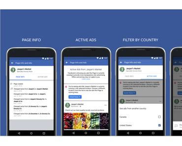 Mehr Transparenz: Facebook Werbeanzeigen für Nutzer sichtbar