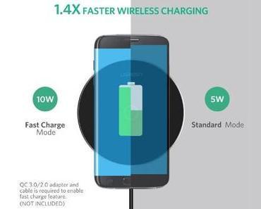 Fast Qi Wireless-Ladestation: 10 Watt für 10 Euro