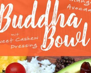 Mango-Avocado Buddha Bowl mit Sweet Cashew Dressing