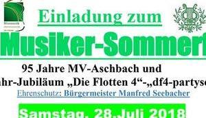 Einladung Musiker-Sommerfest Aschbach