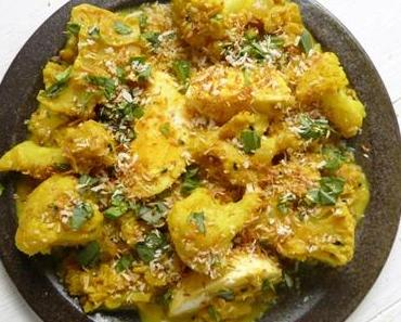 Blumenkohl-Curry-Crumble mit Kokos
