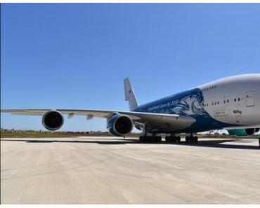 """Airbus A380 """"zu Gast"""" am Airport PMI"""