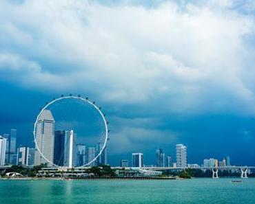 Singapore Flyer Riesenrad mit Kindern