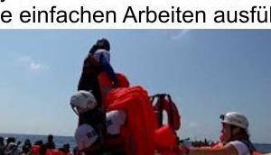 Schiffe bringen wieder neuen Nachschub Fachkräften Deutschland sieht Asylanten höherwertige Tätigkeiten