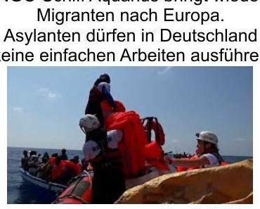 Die NGO Schiffe bringen wieder neuen Nachschub an Fachkräften und Deutschland sieht für Asylanten nur höherwertige Tätigkeiten vor