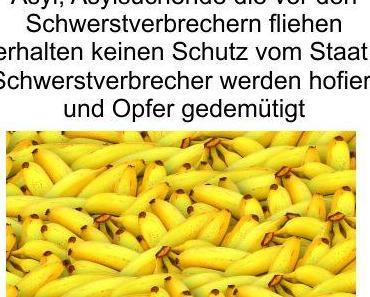 Bananenrepublik Deutschland, Schwerstverbrecher erhalten Asyl und Asylsuchende die vor ihren Peinigern Schutz suchen müssen Deutschland verlassen