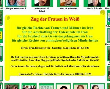 """Zug der Frauen in Weiß"" am 1. September 2018, 14:00 - 16:30, Berlin Brandenburger Tor"