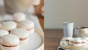 Vanille-Macarons Schokoladenfüllung