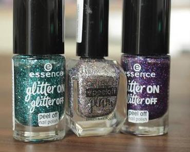essence glitter on glitter off peel off nail polish Review