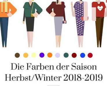Das sind die Farben der Herbst-Winter-Saison 2018/2019 [Werbung]