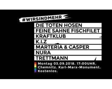 """NEWS: Hier gibt es den Livestream zum """"Wir sind mehr""""-Konzert in Chemnitz"""