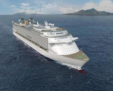Das Kreuzfahrtschiff Global 1 von Dream Cruises bietet Platz für 9500 Passagiere