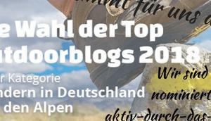 Abstimmung: CAMPZ Outdoorblog 2018 Kategorie Wandern Deutschland