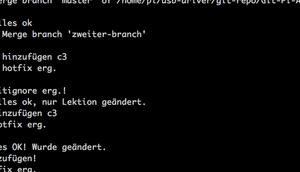 Grafische ASCII-Anzeige eines Git-Trees