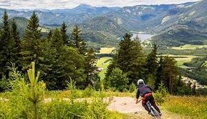 Staats- Europameister Markus Pekoll beim Downhill Race BikeAlps Bürgeralpe Mariazell