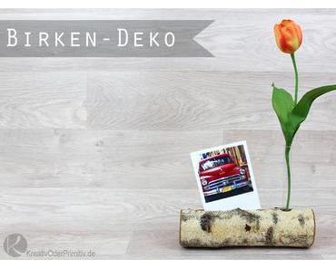 Birkenstamm-Deko