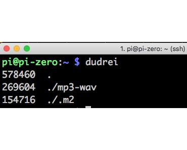 Wie können auf einem Raspberry Pi die 3 größten Dateien in einem Verzeichnis rekursiv ausgeben werden? Oder wie können alias angelegt werden?