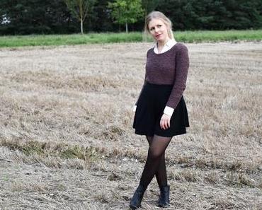 Modeklassiker neu kombiniert   Bluse trifft auf Pullover