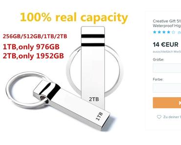 100%-Fake: Wish verkauft gefälschte USB-Sticks