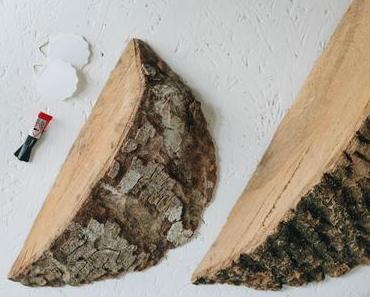 Wie bastle ich Baumstamm Wanddeko fürs Wohnzimmer?