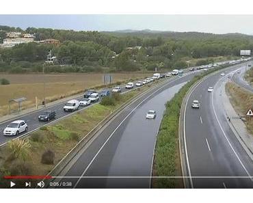 Autobahn Palma  Andratx teilweise gesperrt