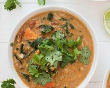 Rote Linsen Curry mit Kürbis