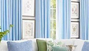 Vorzüglich Blaue Vorhänge Design