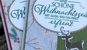 """Karte Designerpapier """"Weihnachtszeit"""""""