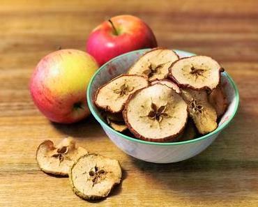 Einstimmung in die Adventszeit: Apfel-Chips mit Zimt