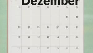 Freebie Kalender Ausdrucken Dezember 2018