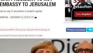 Merkel verhinderte Verlegung rumänischen Botschaft nach Jerusalem