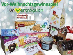 Glutenfreies Vorweihnachtsgewinnspiel mit dem Onlineshop un-vertraeglich.de