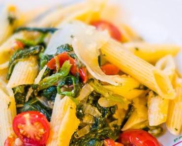 Mein Mann kann: Penne mit Spinat und Tomaten #Feierabendküche