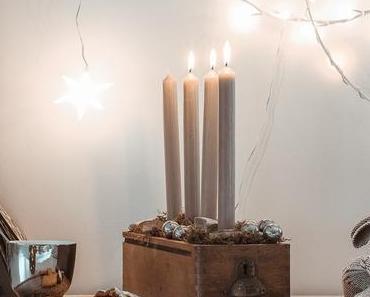 Adventskranz Idee mit Holz