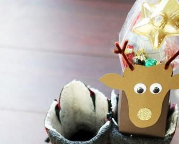 Niedliche Rentier-Nikolaus Verpackung für strahlende Kinderaugen
