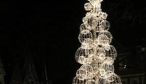 Foto: erste Techno-Weihnachtsbaum