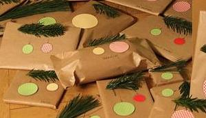 Geschenke verpacken Packpapier Weihnachten