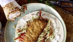 Alpiner Fisch-Wrap
