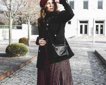 Winter Outfit mit Rock: So kombiniere ich Faltenrock im Winter!