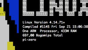 System-Info ASCII-Art-Logo nach Login Raspberry anzeigen linuxlogo (Version 5.11) screenfetch 3.6.8)