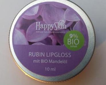 [Werbung] Happy Skin Naturkosmetik Rubin Lipgloss + The Glitter Labs Mojito Body Scrub