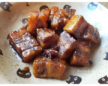 Geschmorter veganer Schweinebauch, asiatischer Art