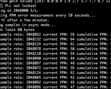 Raspberry Pi: Wie kann für ein SDR Empfänger die Frequenz Korrektur ermittelt werden um den Frequenzdrift zu kompensieren?