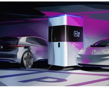 VW präsentiert Schnellladesäulen