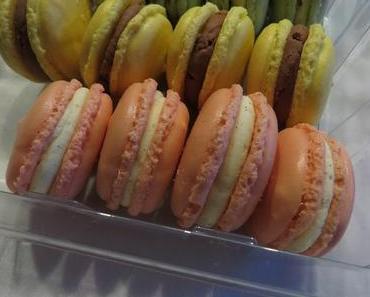 Macarons mit weißer Schokolade-Vanille-Ganache