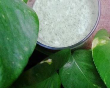 Let´s start green – Green Smoothie mit Kokosmilch