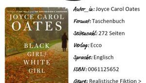 Joyce Carol Oates Black Girl White