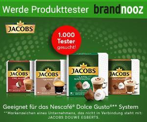 Ankündigung Produkttest Nescafé über Brandnooz