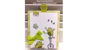 Frösche sind Umschlag Gutscheinkarte