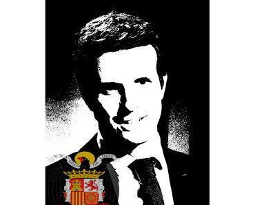 Die spanische Rechte mit Schaum vor dem Mund